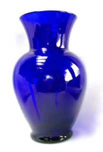 cobalt blue large flower vase decorative glass 11 quot