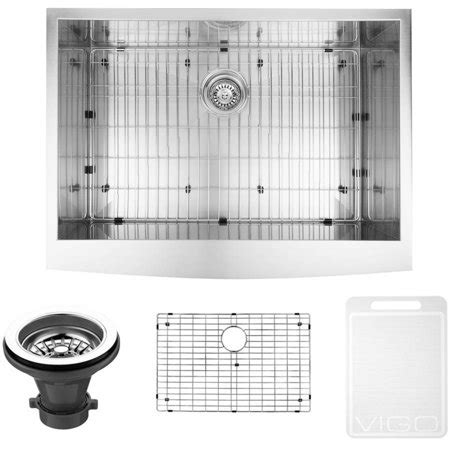 farmhouse sink grid stainless steel vigo 30 quot farmhouse stainless steel kitchen sink grid and