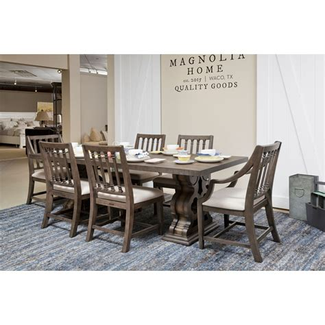 view showroom traditional double pedestal dining room table magn magnolia home furniture accessories joanna