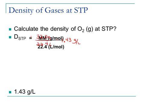 Density Of L unit v the mole concept ppt
