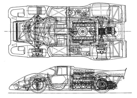 Porsche 917 Sketches Of Success by Porsche 917k Chassis Drawing Unattributed Cutaways