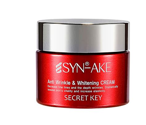 Masker Wajah Sel Anti Wrinkle Whitening Secret Key 100 Original jual secret key syn ake anti wrinkle whitening 50gr vanessa shop