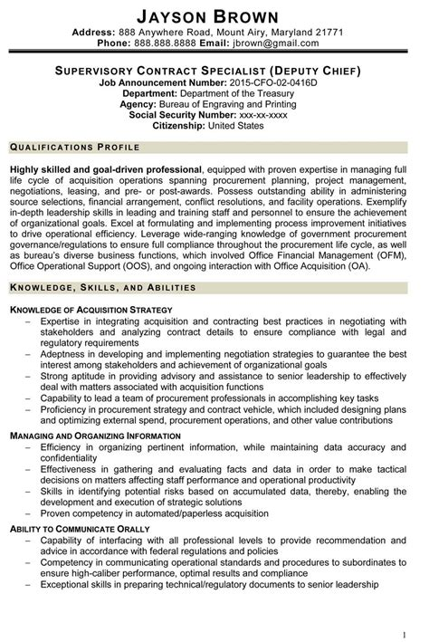 Government Resume by Government Resume Writing 28 Images Federal Resume