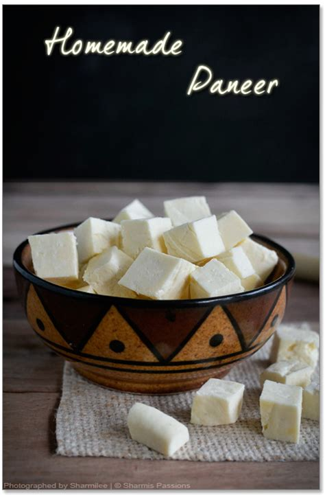 how to make paneer paneer sharmis passions