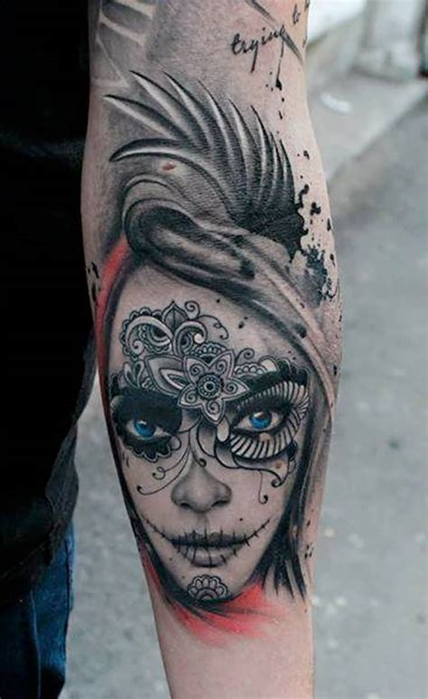 nice arm tattoos 20 catrina tattoos on forearm golfian