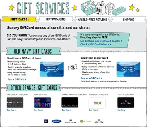 Old Navy Gift Card Return Policy - giftcards old navy