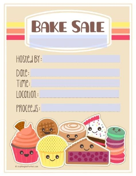 bake flyer template bake sale flyer template free incheonfair