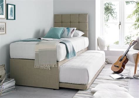 single bed with guest bed partners linoso cream upholstered guest bed with