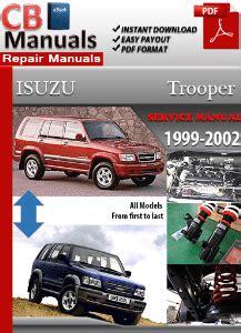 manual repair autos 2002 isuzu trooper on board diagnostic system pdf factory manuals service and repair manuals
