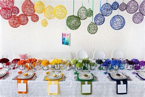 rainbow wedding decorations   Google Search   Wedding