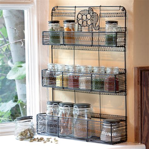 Spice Racks With Spices For Kitchen Kitchen Free Standing Wire Spice Racks Organizing
