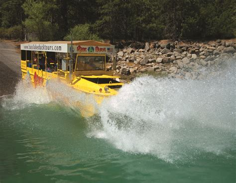 duck boat entering water duck duck eagle bass lake boasts new hibious tour