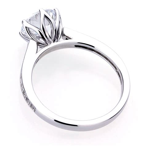 accent platinum plated sterling silver cut