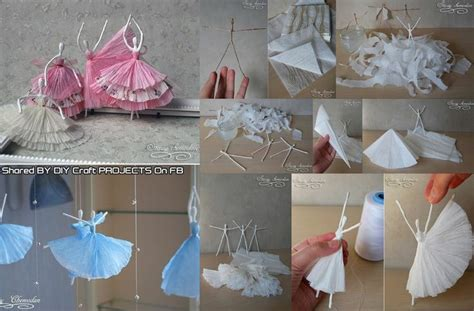 Craft Ideas With Paper Napkins - diy paper napkin ballerinas craft ideas