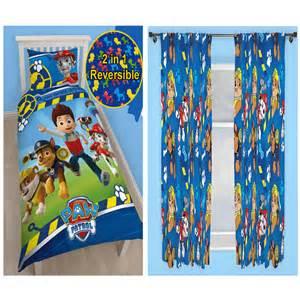 paw patrol rescue bedroom range single duvet cover amp curtains kids
