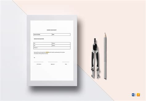 escrow receipt template escrow check receipt template in word docs apple