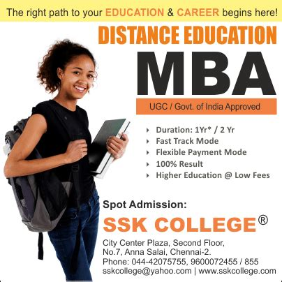 Mba Distance Education In Chennai by Mba Distance Learning Programs Chennai Top Distance