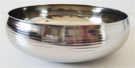 Stainless Bowl Mangkok Stainless 22cm Vavinci 22cm ribbed stainless steel bowl