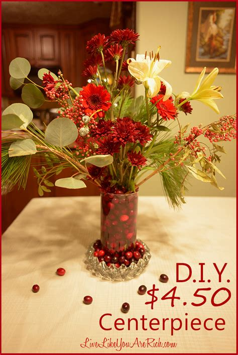 live xmas centerpieces d i y flower centerpiece live like you are rich