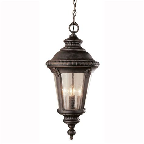 Outdoor Suspended Lighting Bel Air Lighting Way 1 Light Outdoor Hanging Rust Lantern With Seeded Glass 5049 Rt The