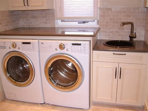 Washer And Dryer Countertop by Countertop Above Washer And Dryer Design House Ideas