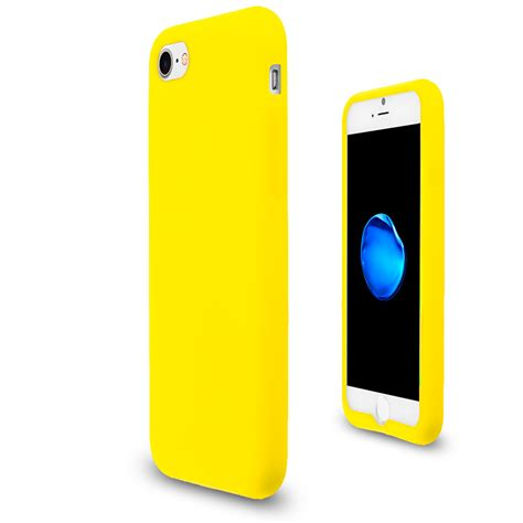 yellow silicone skin cover for apple iphone 7 casedistrict