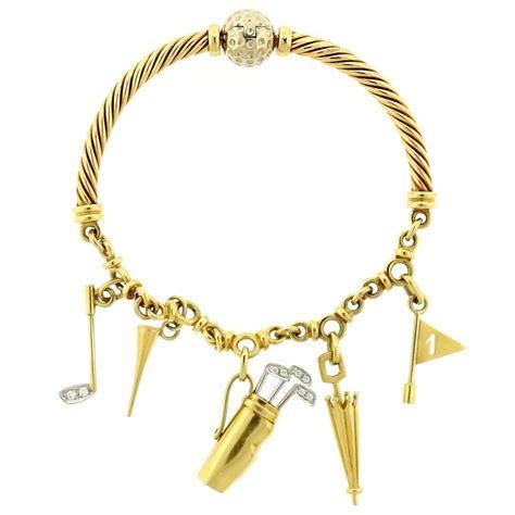 pomellato charms pomellato gold golfer charm bracelet for sale at