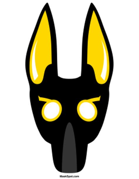 printable anubis mask printable anubis mask