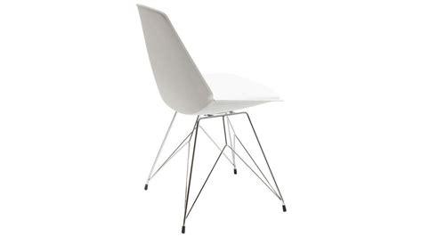 chaise simili cuir blanc achetez votre chaise design simili cuir blanc wire kare