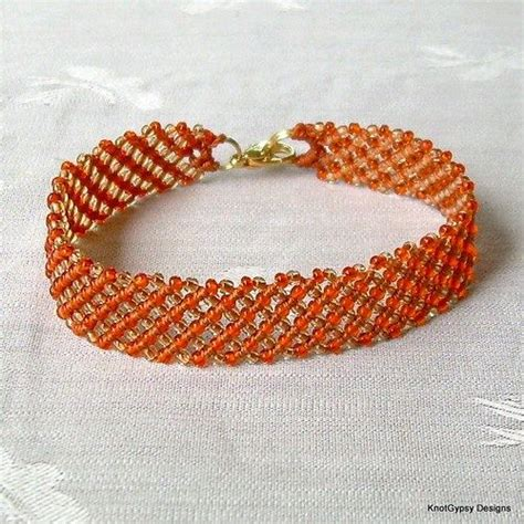 Simple Macrame Bracelet Patterns - micro macrame pattern basic angle bracelet