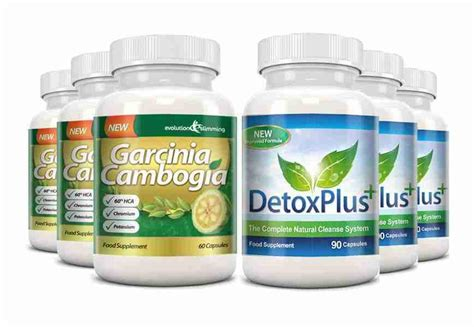 Evolve Detox Pills by Garcinia Cleanse Combo Pack 1000mg 60 Hca With Potassium