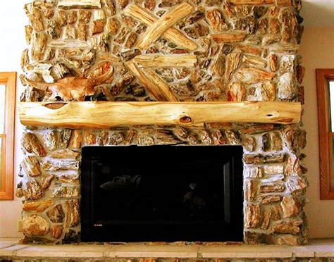 Log Fireplace Mantel by Decorating Rustic Fireplace Mantels