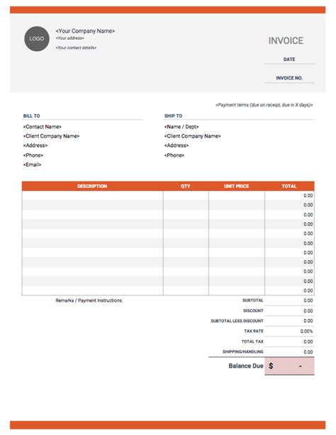 best paid templates invoice template free and fully customizable