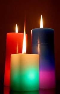 candles calendar template