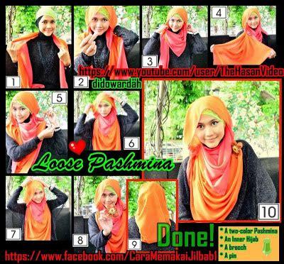 tutorial jilbab untuk acara kondangan cara memakai jilbab pashmina by didowardah bagian 3 hot