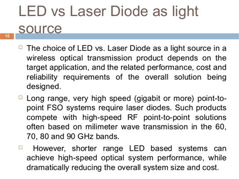 diode vs led free space optics