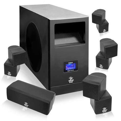 home theatre system surround sound subwoofer 5 speakers