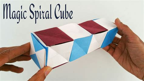 How To Make Useful Things Out Of Paper - magic spiral cube diy modular origami tutorial by paper