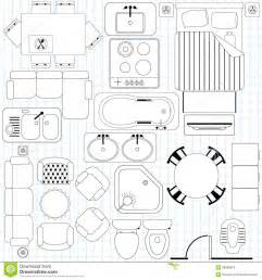 floor plan furniture clipart simple furniture floor plan royalty free stock image