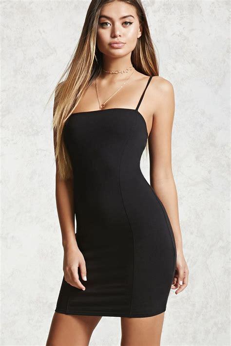Mini Dress 263 style deals a knit mini dress featuring cami straps a bodycon fit square neckline and seam