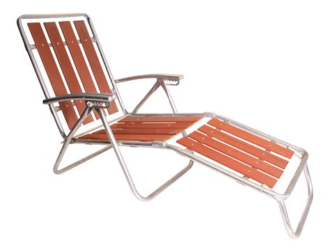 Mid Century Chaise Lounge Chair by Mid Century Redwood Aluminum Folding Chaise Lounge Chair