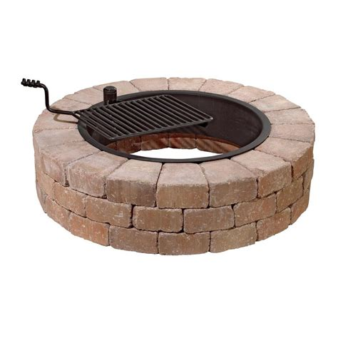 Necessories 48 In Grand Concrete Fire Pit In Desert With Pit Grates