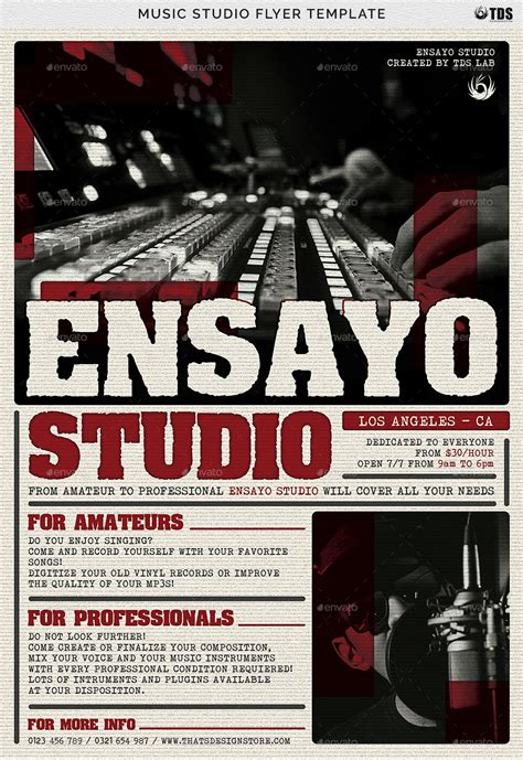 template flyer music music studio flyer template by lou606 graphicriver