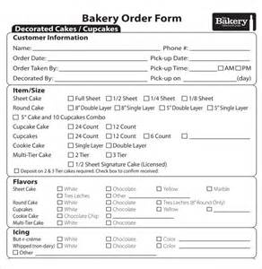 bakery order form template bakery order template 16 free excel pdf documents