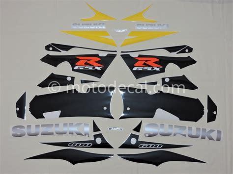 Suzuki Decal Kit Suzuki Gsx R 600 2003 Black Yellow Decal Kit By Motodecal