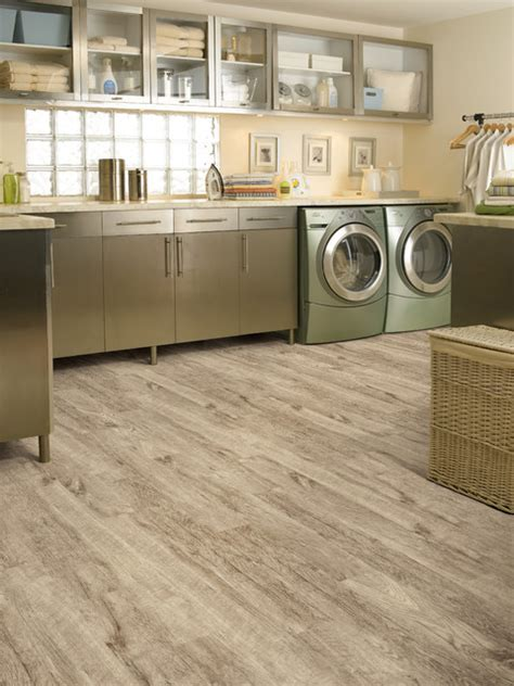 luxury vinyl planks tropical laundry room miami by