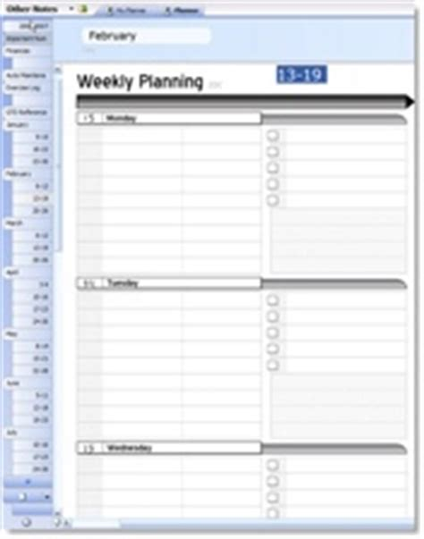 Onenote Daily Planner Template Planner Template Free Onenote Planner Template