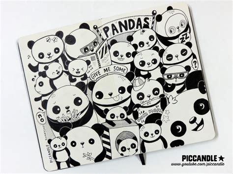 doodle panda pandas moleskine doodle by piccandle on deviantart