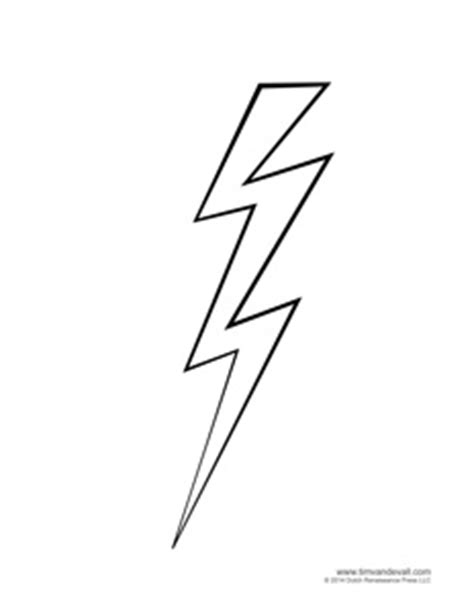 lightning bolt template tim de vall comics printables for