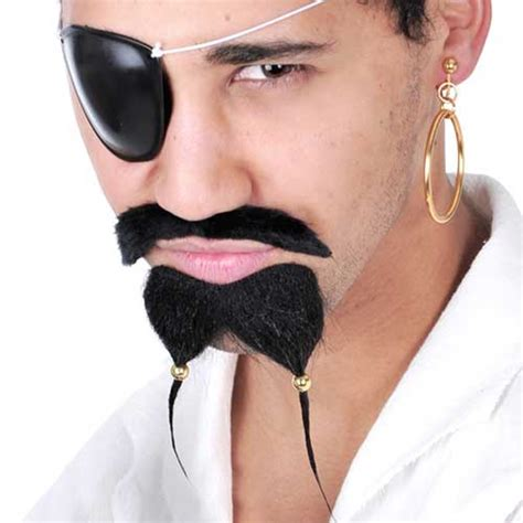 pirate sparrow moustache and beaded beard goatee costume